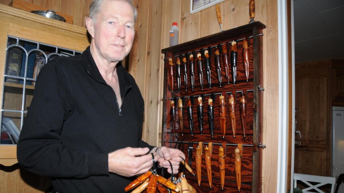 Det har blitt ein del handverksprodukt som Odd Jørgen Bergland har laga siste fem åra.