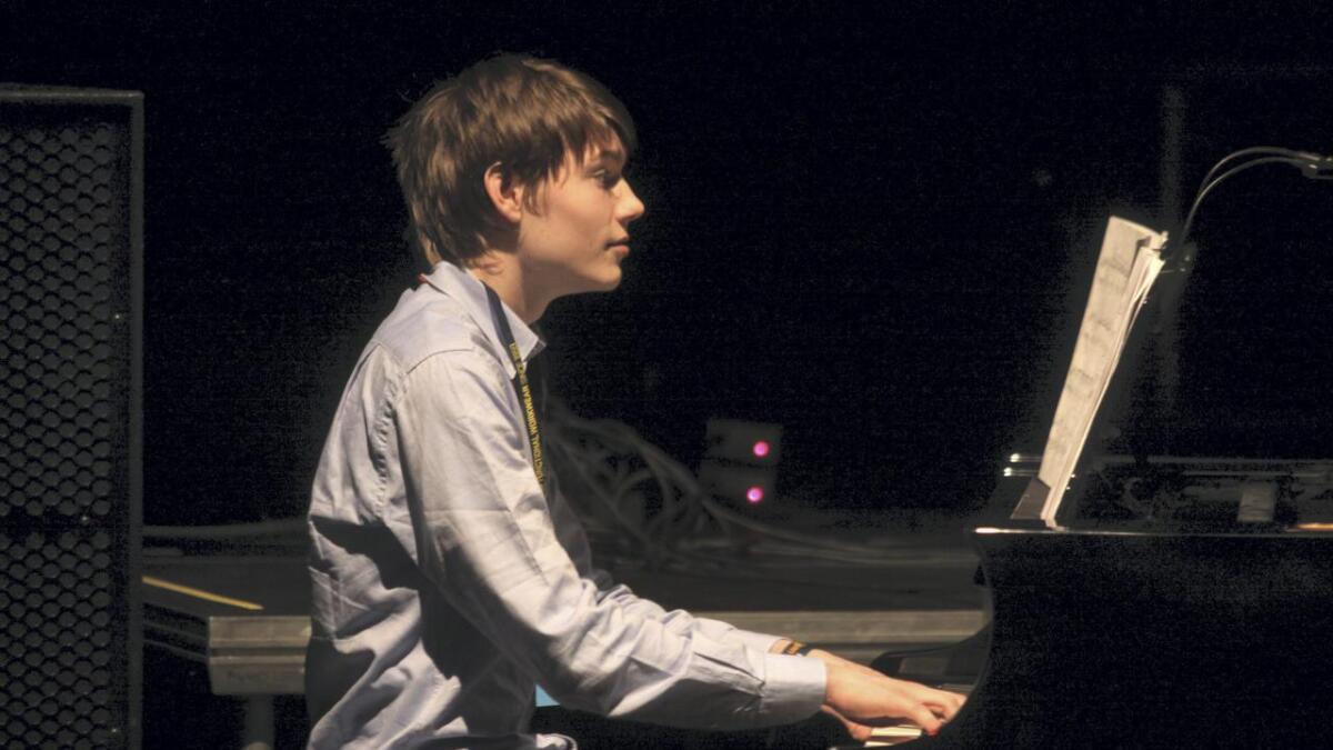 Gabriel Løsnesløkken imponerte på piano.