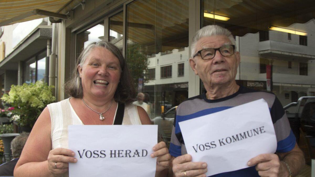Anita Nesheim og Knut S. Nesheim er kanskje nære slektningar, men dei er ikkje samde om kva det nye namnet bør verta.
