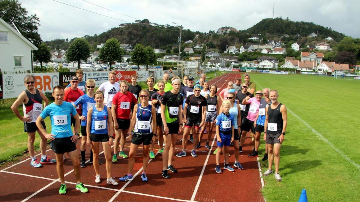 Denne gjengen deltok på 5.000 meteren.  Alle