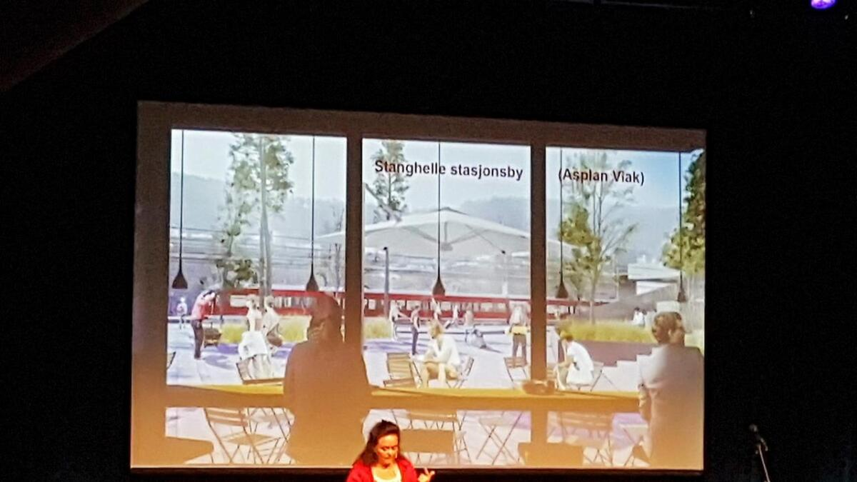 Byråd for byutvikling i Bergen, Anna Elisa Tryti, roste Vaksdal kommune for å ha fått utarbeidd moglegheitsstudar for mellom anna Stanghelle.