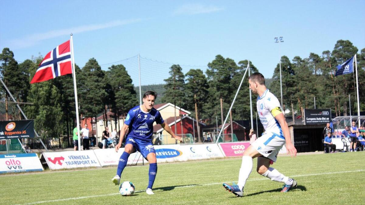 : Joachim Holberg Eriksen og resten av Vfk fikk ikke med seg poeng mot Notodden