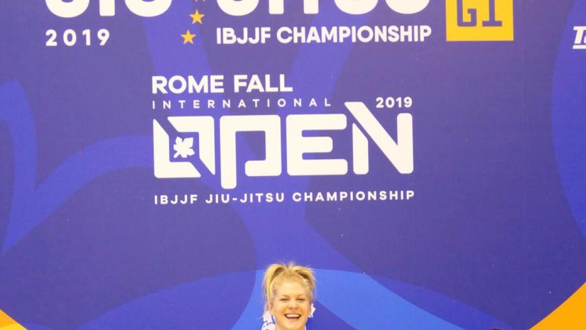Eva Netland forsvarte EM-tittelen i No Gi i Roma med helga.