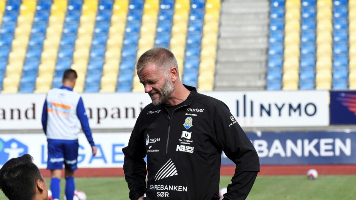 Arne Sandstø er inne i sin fjerde sesong som hovedtrener i FK Jerv i 1. divisjon.