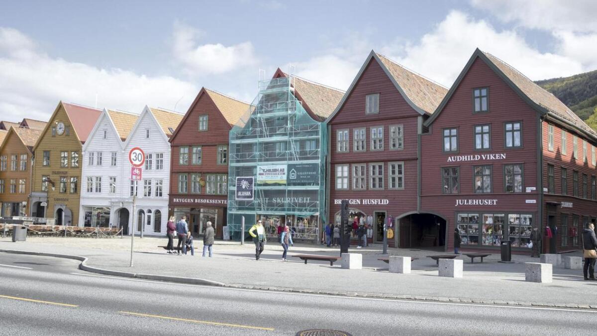 Bryggen i Bergen er eit kjent landemerke.