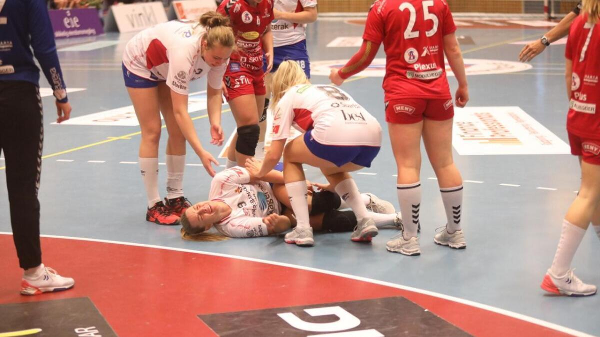 Dorthe Groa skadet seg i møte med Follo.