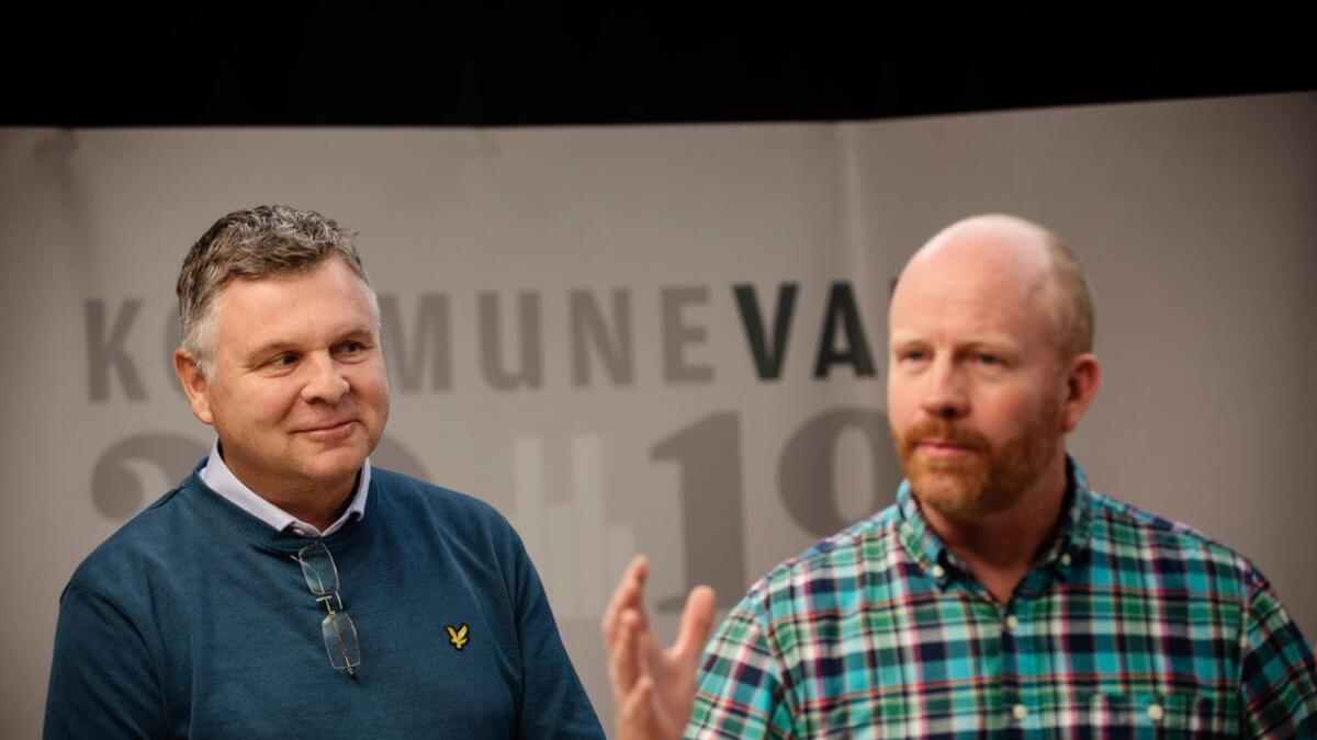Både Andreas Smith-Erichsen (t.v.) og Pål Rørby har sterke ønske om å bli den nye ordføraren i Hemsedal.