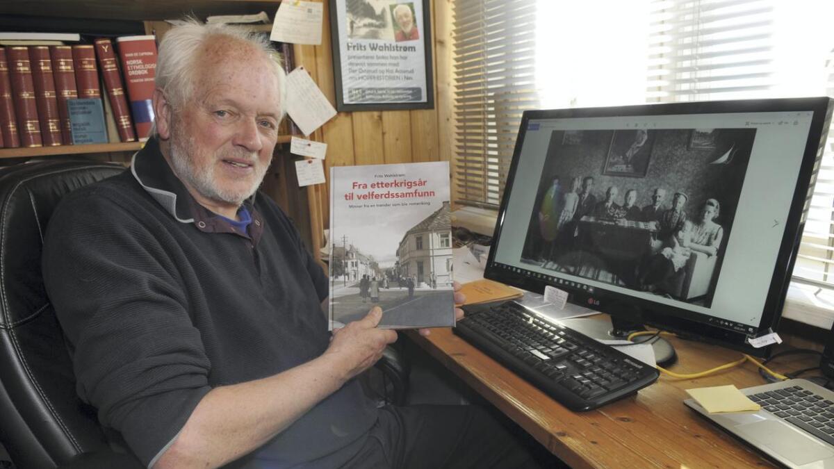 Frits Wahlstrøm har samlet livsminner i boka «Fra etterkrigsår til velferdssamfunn». Boka er først og fremst skrevet til hans barn, barnebarn og nærmeste slekt.