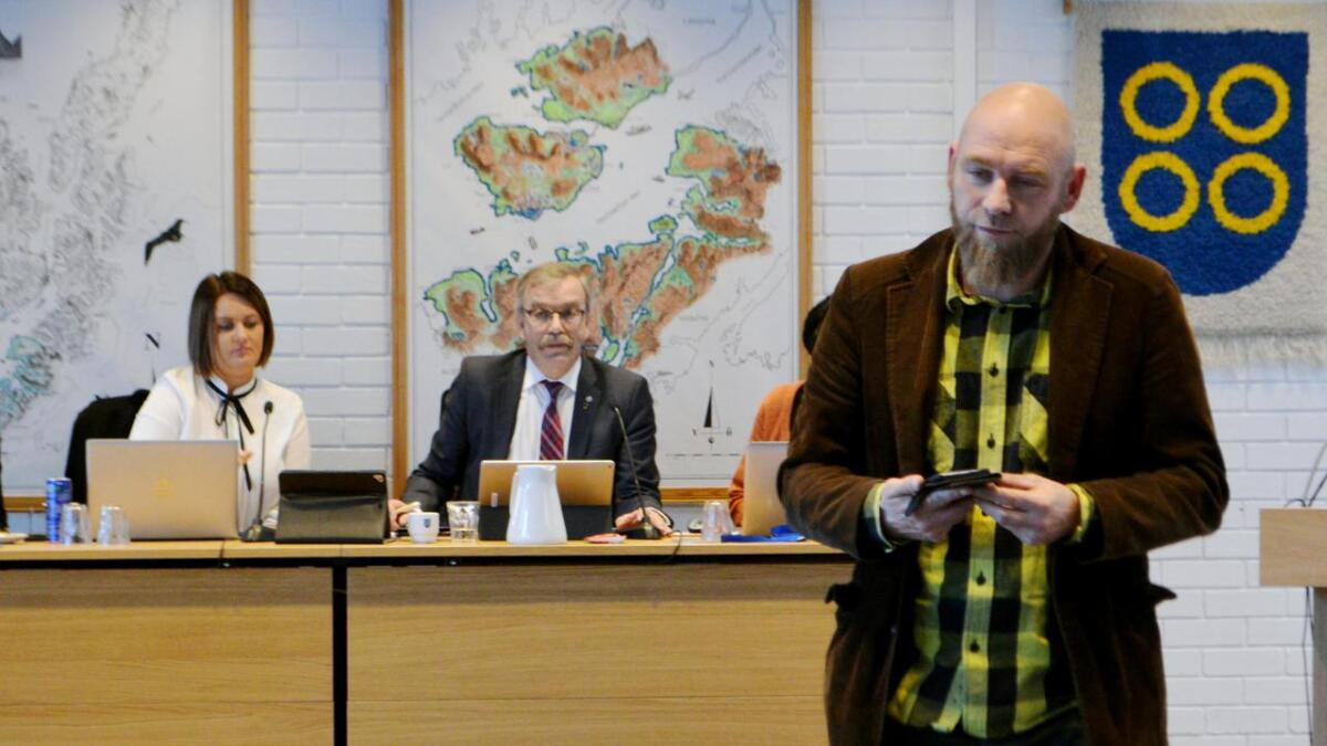 Geir Jørgensen (R) fikk bare sin egen og partikamerat Jostein Ellingsens stemme i Hadsel kommunestyre.