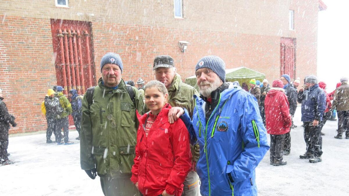 Kaj Eggesvik, Mariken Kjøhl, Sverre Siljan og Jens Halvorsen hadde alle klare meninger om steinbruddplanene.