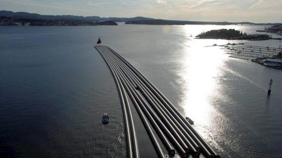 Få transporter av industriproduktene fra Grenland er så store som Pipelifes rørleveranser.Arkiv