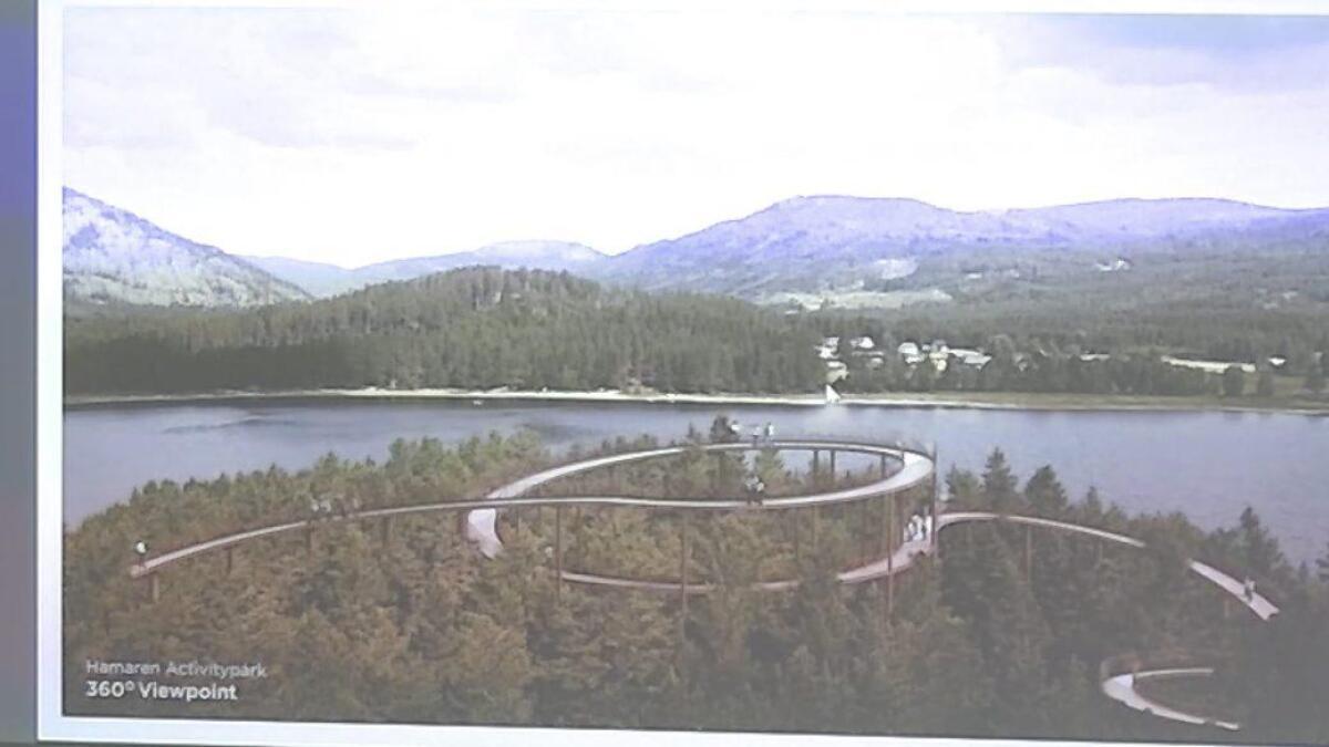 Det danske arkitektfirmaet Effekt har laga ei skisse over turveg som blir festa til pålar på Kjeøyni.