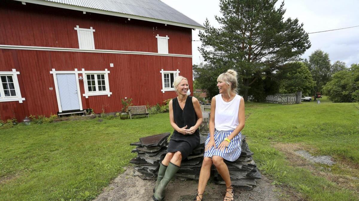 I denne låven jobber Jeanette Lunde og Hilde Mork med felles designprosjekter. De har nå lansert trykk- kolleksjonen Hysj, som selges til hele verden.