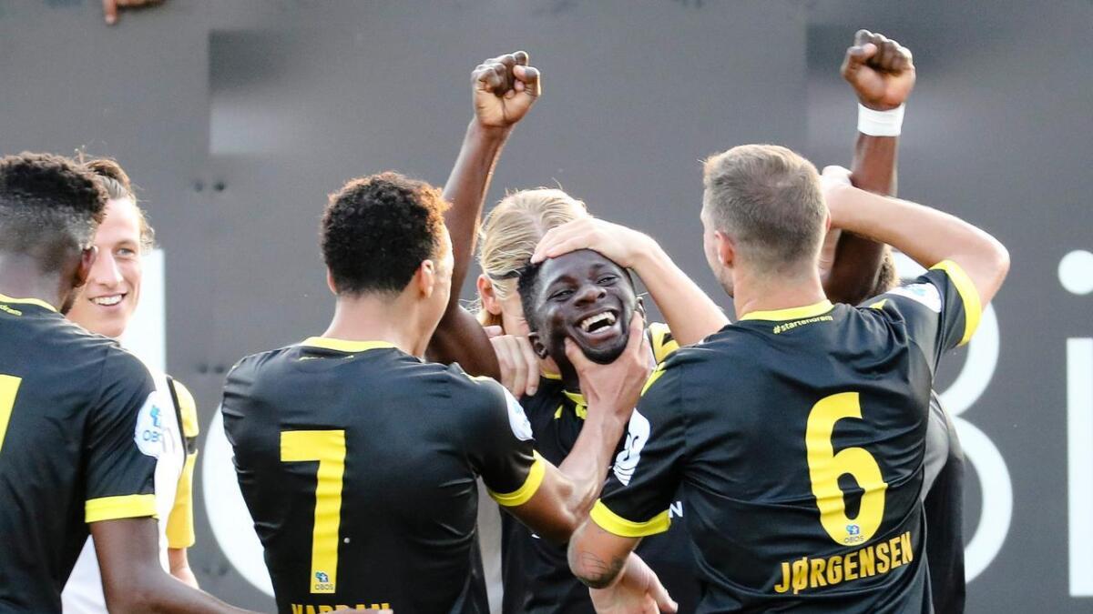 Afeez Aremu ble matchvinner med sin scoring etter 77 minutter.