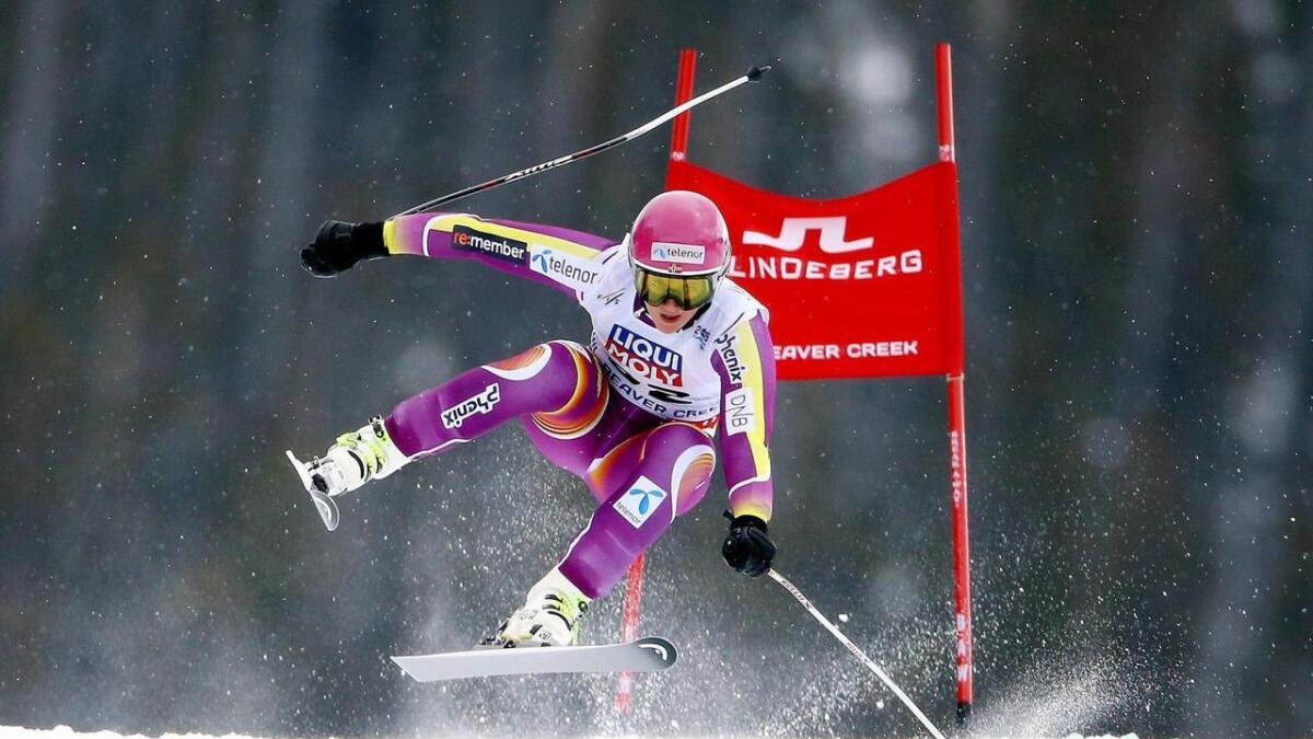 Maria Tviberg i full fart ned Super-G-løypa i Beaver Creek. Året var 2015. Kanskje får atleten frå Geilo kjenne gleda av å konkurrere her i løpet av året som kjem.