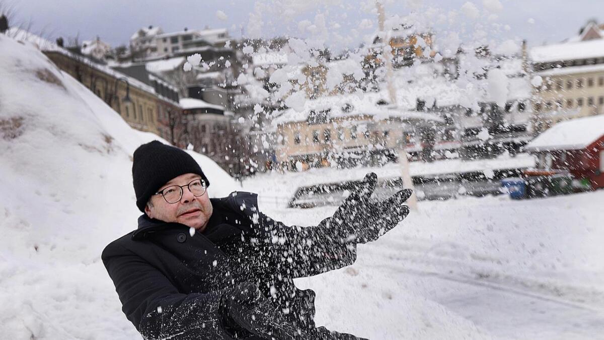 Hans Birger Nilsen (59) vil få barn på skitur i byen under Arendal vinterfestival. Etter det går                           ferden  til tigerens land eller til ukjente høyfjellssletter.
