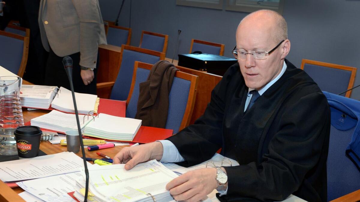 Politiadvokat Geir Magne Søfteland. Bildet er tatt ved en tidligere  anledning i Aust-Agder tingrett.