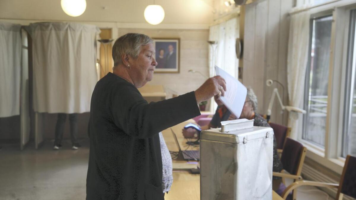 Margit Haugse har valt same partiet som ved alle tidlegare val, sjølv om ho denne giongen ikkje veit kven alle på lista er.