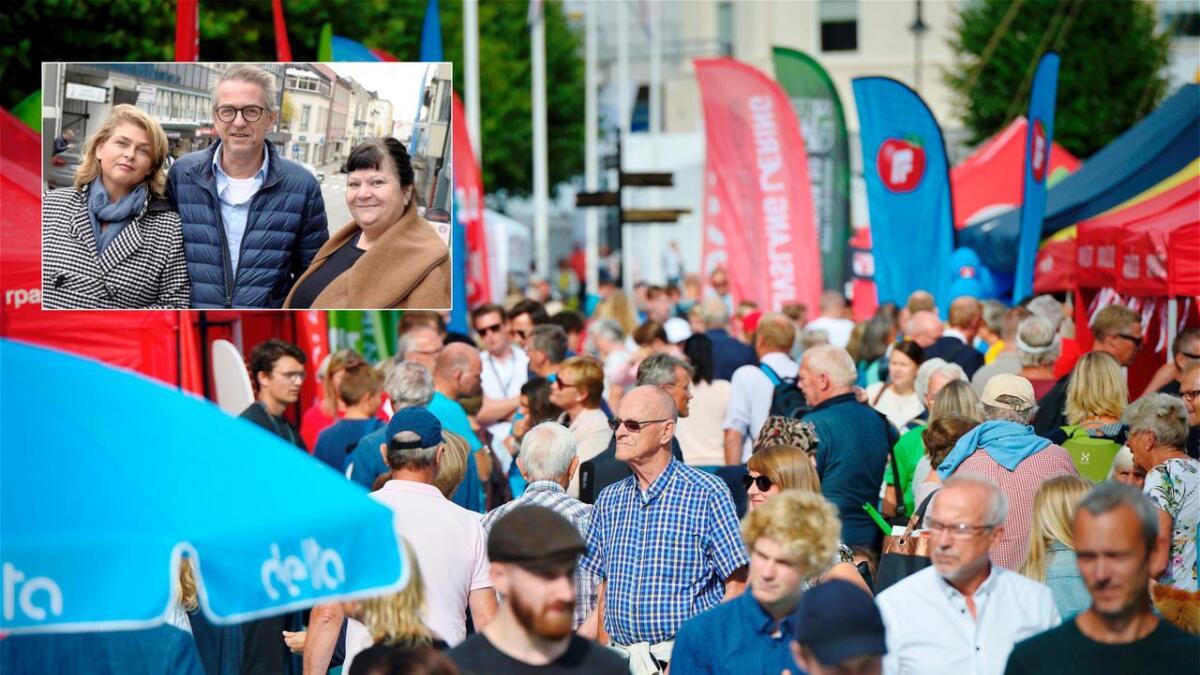 Alle politiske partier får ikke være med i politikergata under Arendalsuka, skriver Liv Heidi Arnesen (innfelt t.v.), og Ingebjørg Amanda Godskesen (t.h.) i dette innlegget.
