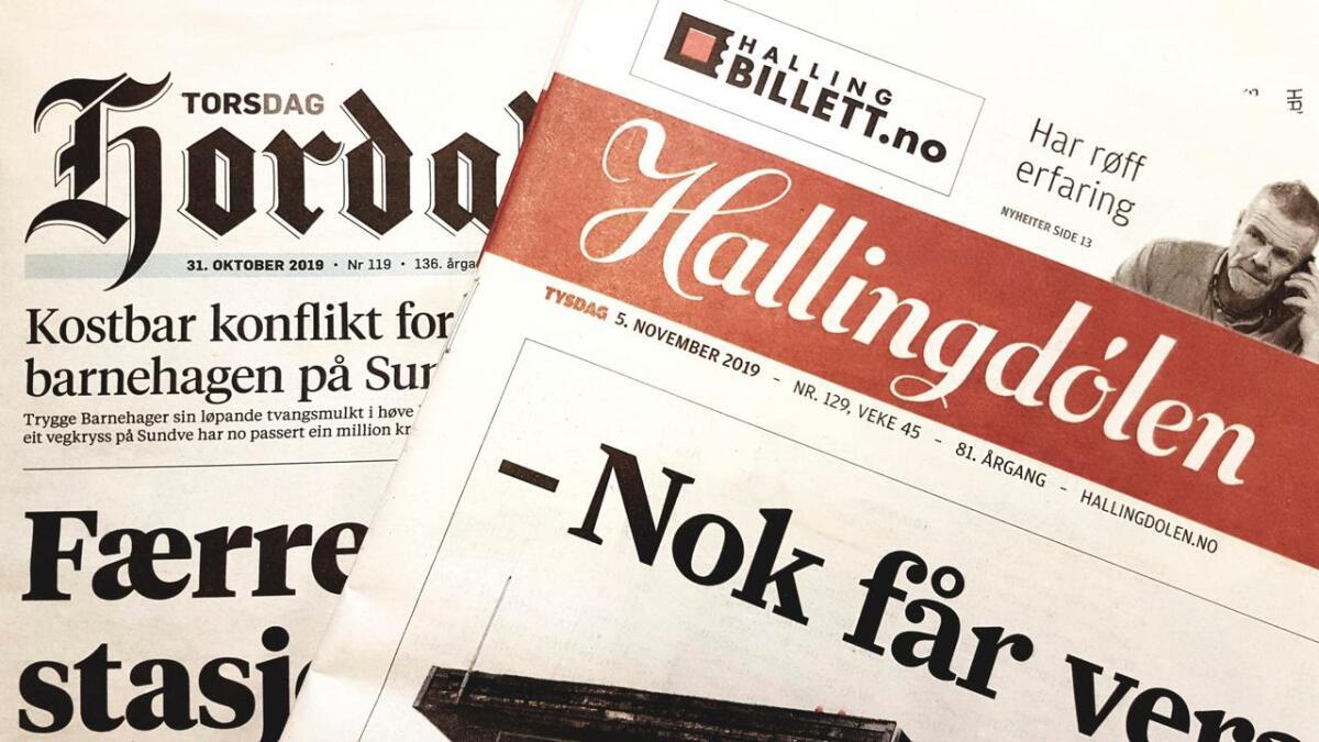 Uavhengige lokalaviser er viktige for mediemangfaldet. Men i dag er det ikkje mange att. Hallingdølen og Hordaland er to av dei.