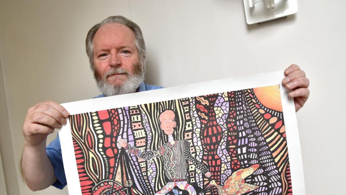 Kjell Fagerheim gleder seg til å stille ut der han ble født.