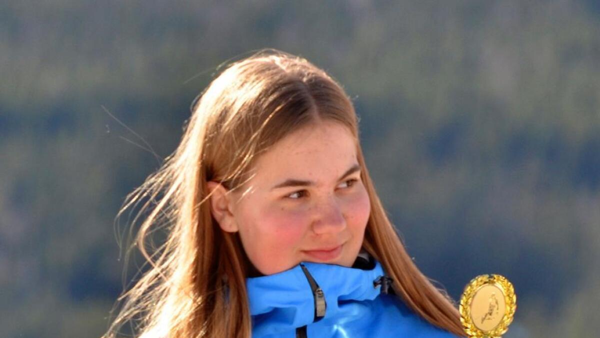 Johanne Eilertsen med gull og sølv i alpint i Barents Games. (Arkivfoto)