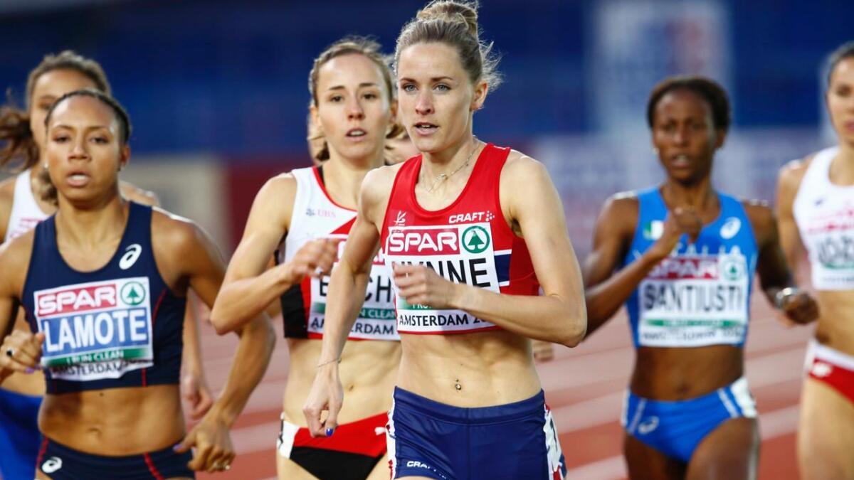 Hedda Hynne fra Skien ble nummer to på en 800 meter under et friidrettsstevne i italienske Bellinzona tirsdag.
