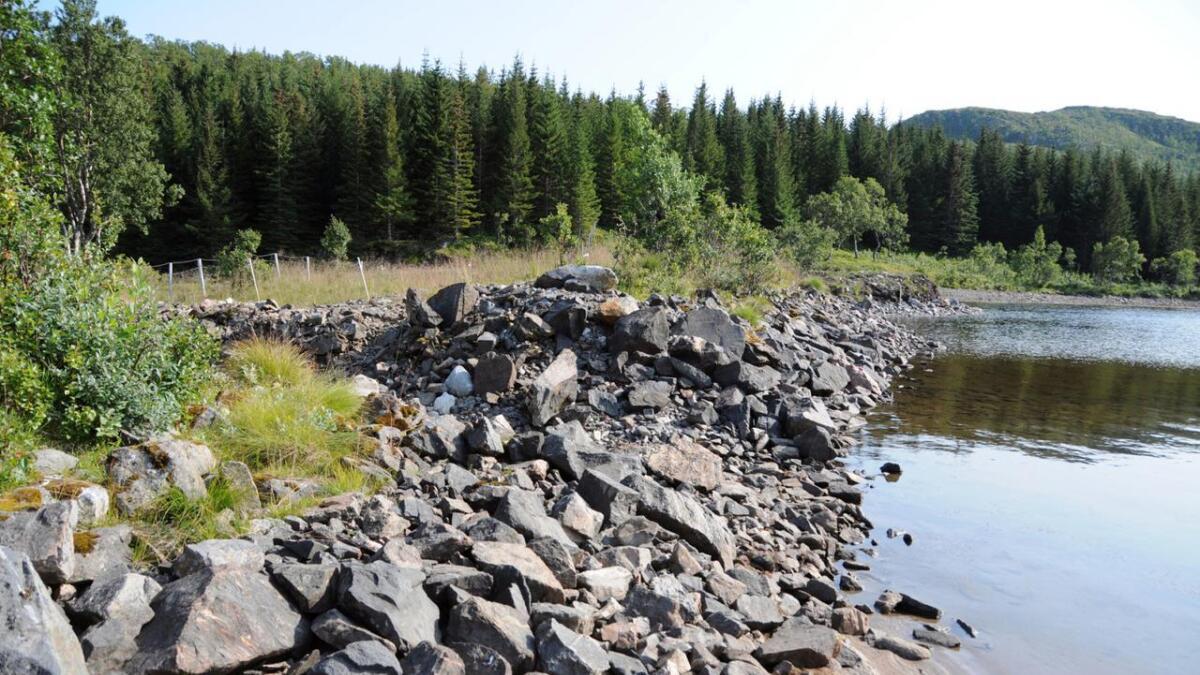Lav vannstand i Sortland kommune.