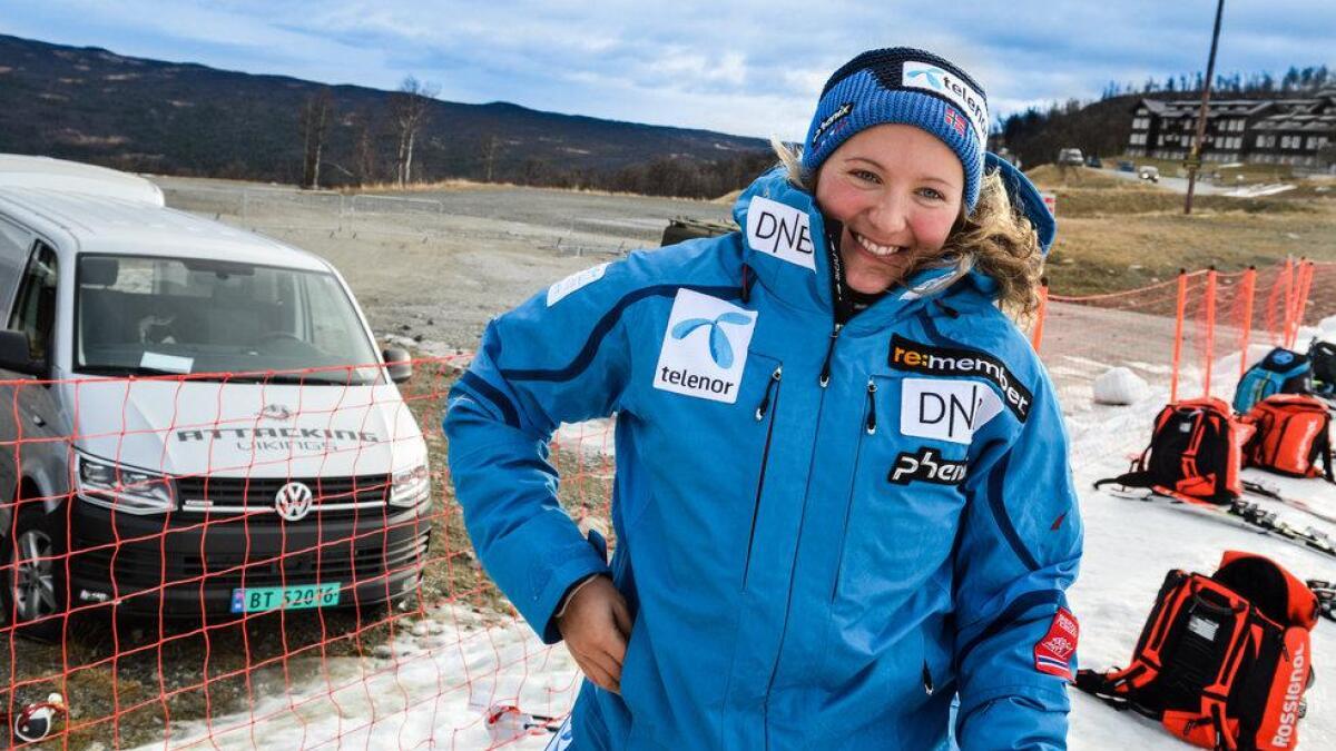 Maria Tviberg køyrde inn til sjetteplass under verdscupen i Sölden laurdag.