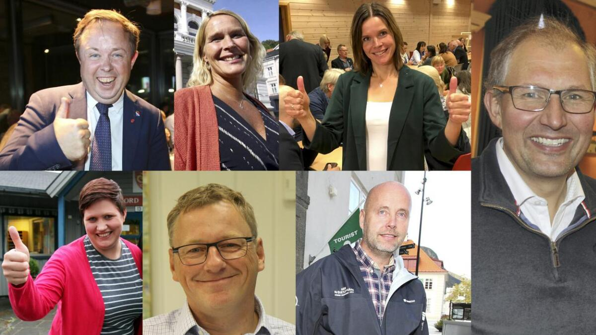 Robin Kåss (Porsgrunn), Hedda Foss Five (Skien), Siri Blichfeldt Dyrland (Midt-Telemark), Terje Riis-Johansen (Vestfold og Telemark), Beate Marie Dahl Eide (Seljord), Jon Rikard Kleven (Vinje), Steinar Bergsland (Tinn) blir alle ordførere den kommende fireårsperioden.