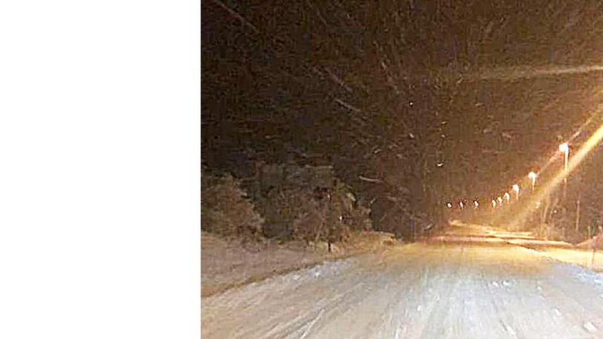 Riksveg 9 gjennom Hovden sentrum var vinterveg kl. 06.00 i dag tidleg.