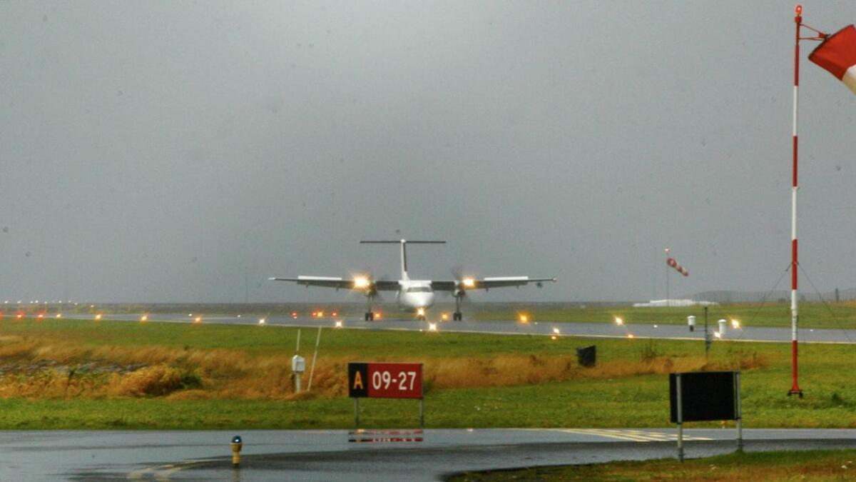 Det kan bli ei tid til neste Widerøe-fly lander på Stokmarknes lufhavn, Skagen.