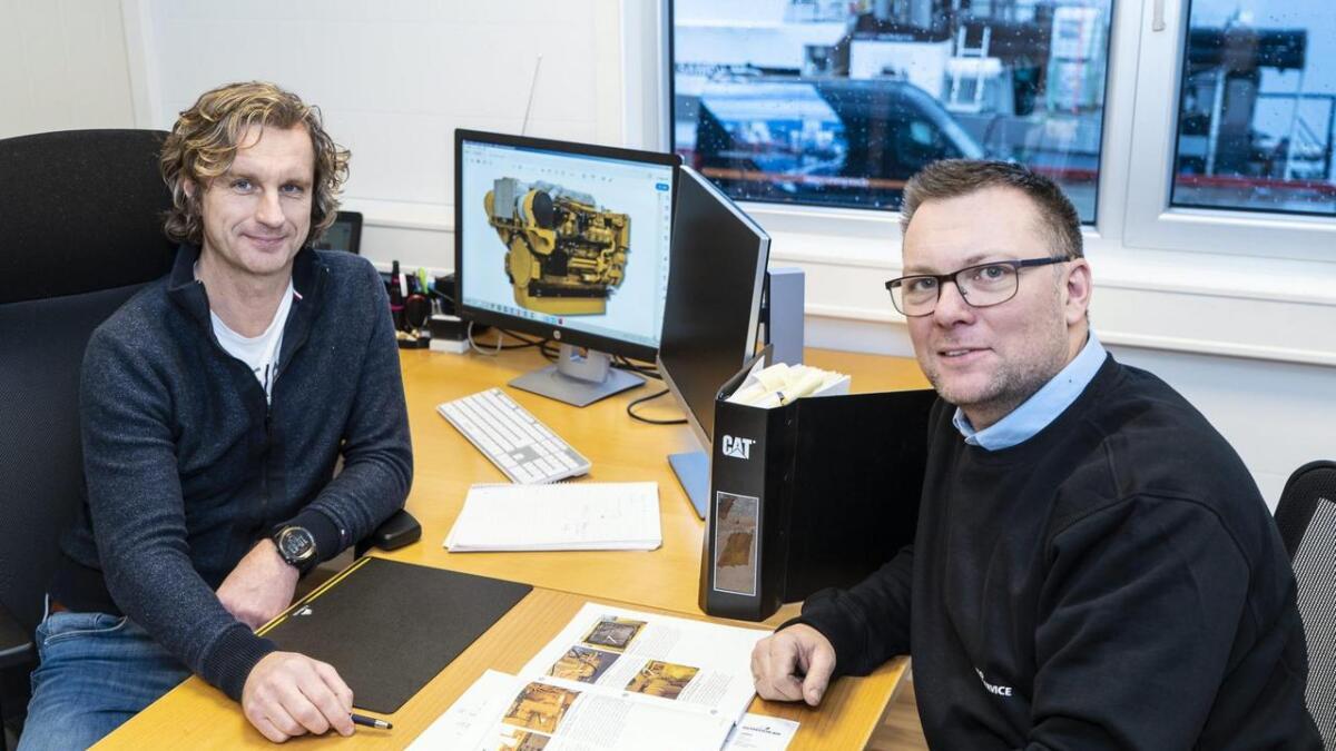 Frode Solend (t.v.) er leiar for den nye avdelinga medan Odd Bjørn Johannessen er tilsett som prosjektleiar. PRESSEFOTO