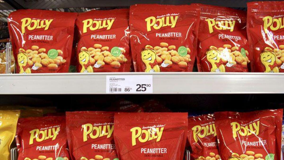 Polly peanøtter er fortsatt et sterkt varemerke.