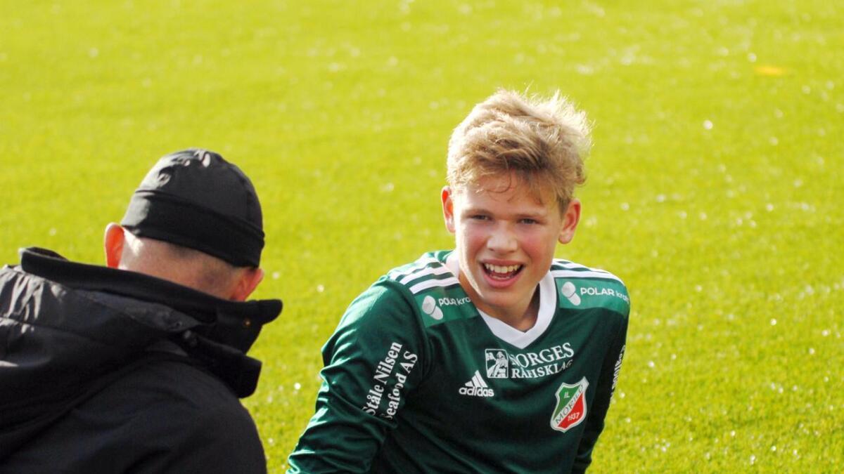 Marius Olsen Stavøy skal få prøve seg ute på banen i andre omgang.