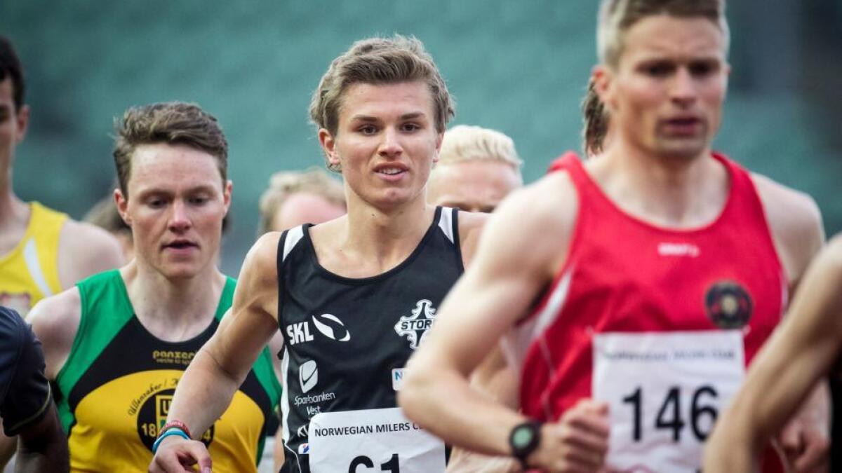 Lars Lunde vann den 9,3 kilometer lange Djupadalten i Haugesund på laurdag. Med seg heim til Stord kunne han sopa 4000 kroner i premiepengar.