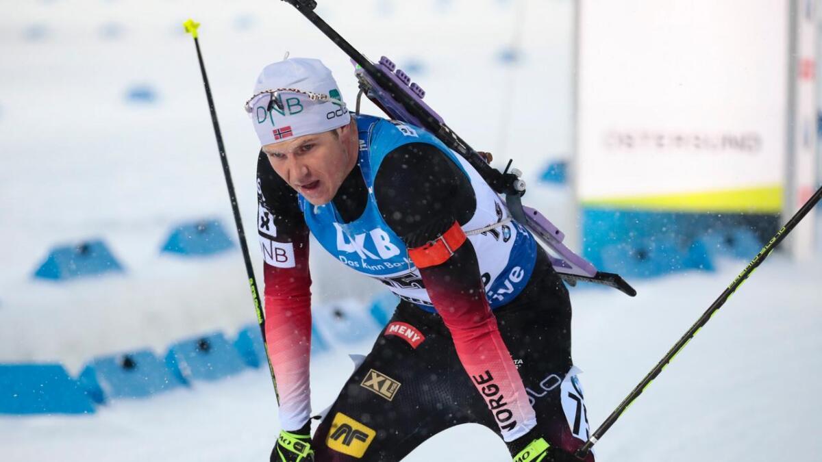 Vetle Sjåstad Christiansen kjempa lenge om medalje på normaldistansen under VM i Östersund.