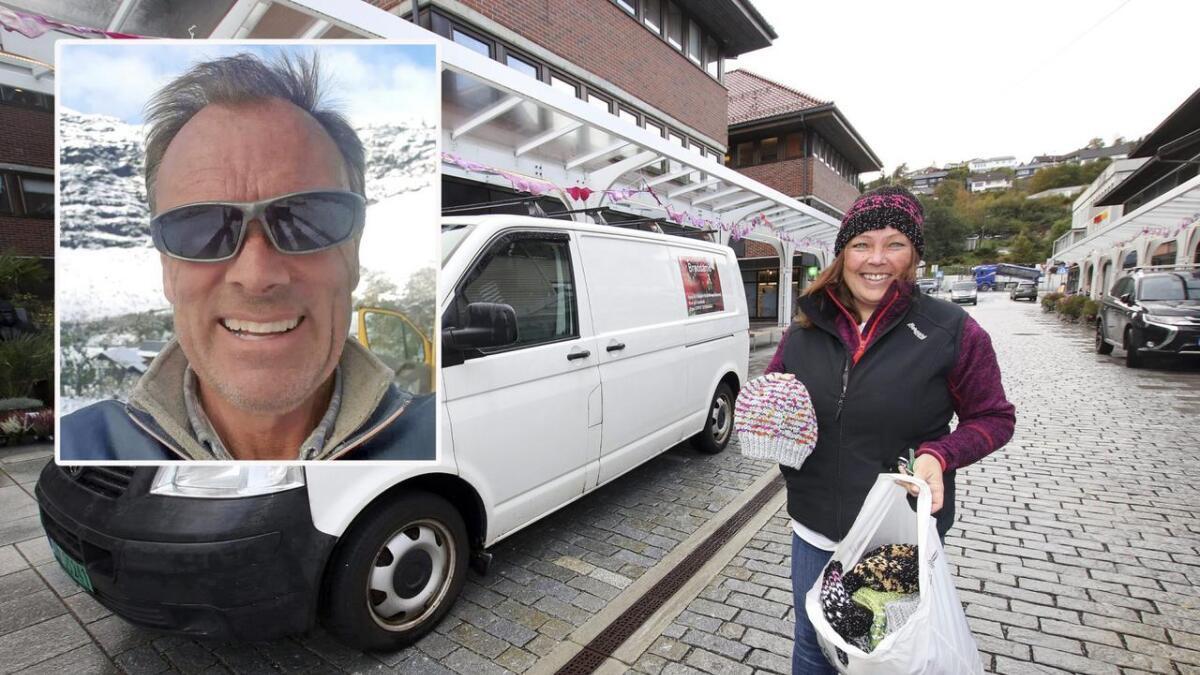 Rolf Lunde i Glass og Tre AS meiner det er viktig å støtta lågterskeltilbod som Trude Beckholt og andre i lokalmiljøet held på med.