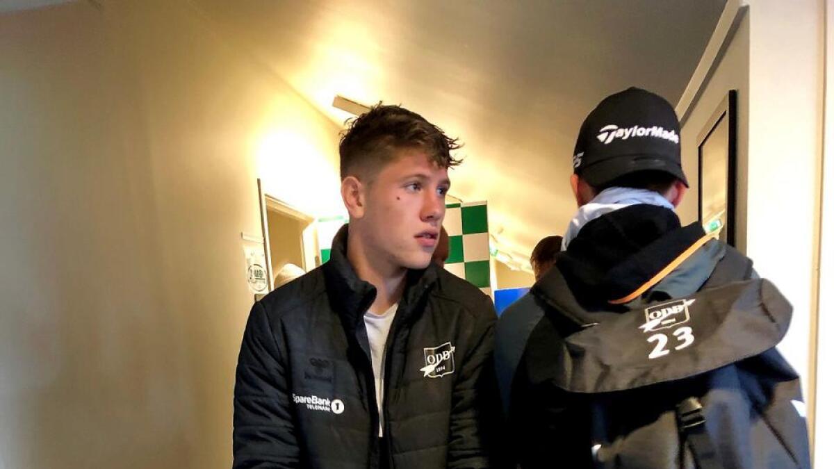 Markus Kaasa forlot Levermyr på krykker.