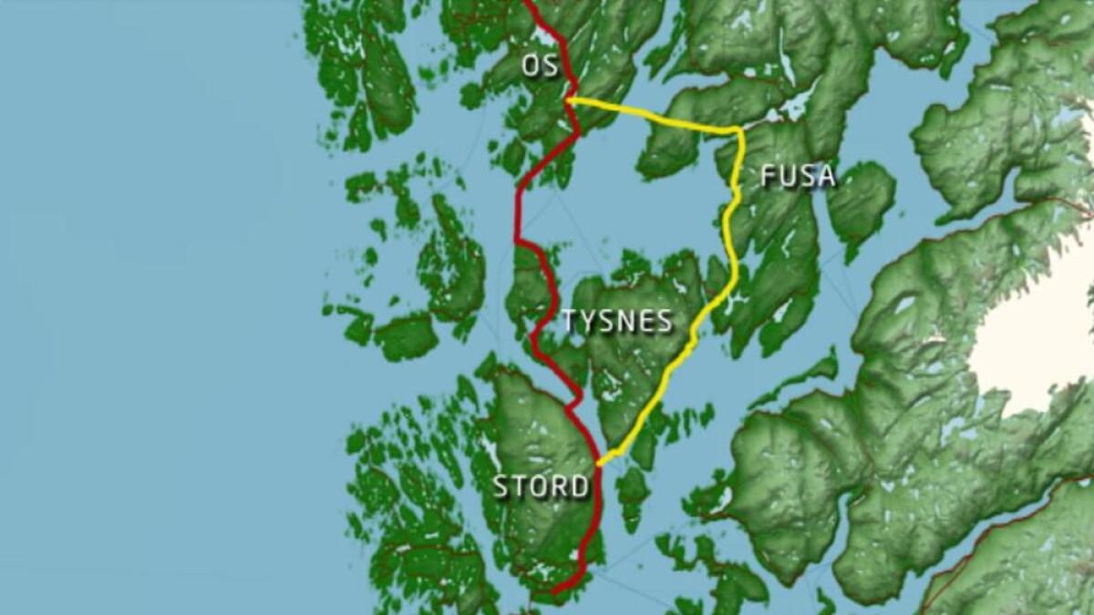 Os og Fusa skal verta ein kommune. Dette krev betre samband mellom dei noverande kommunane.