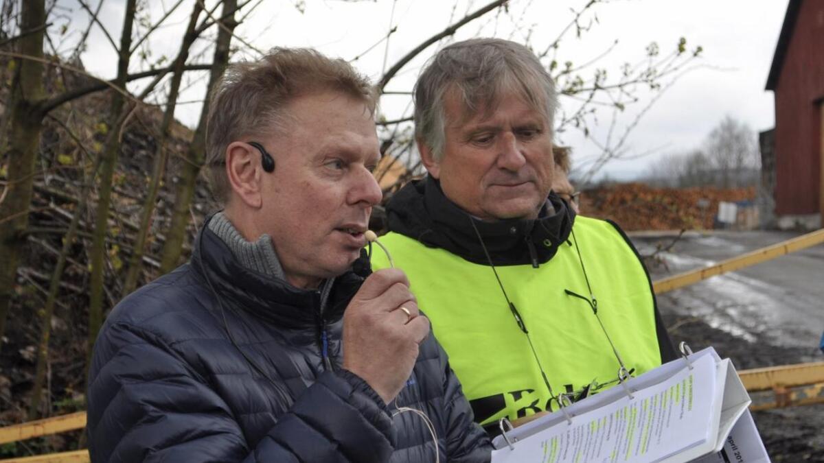 Yngvar Hannevik og Øyvind Bakken fra en rusletur på Vikeland i 2016. Foto privat