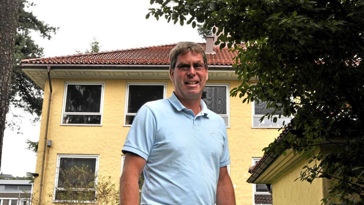 Eivind Drivenes (Sp) vil innta kontoret i bakgrunnen, og går nå direkte etter ordførerklubba.