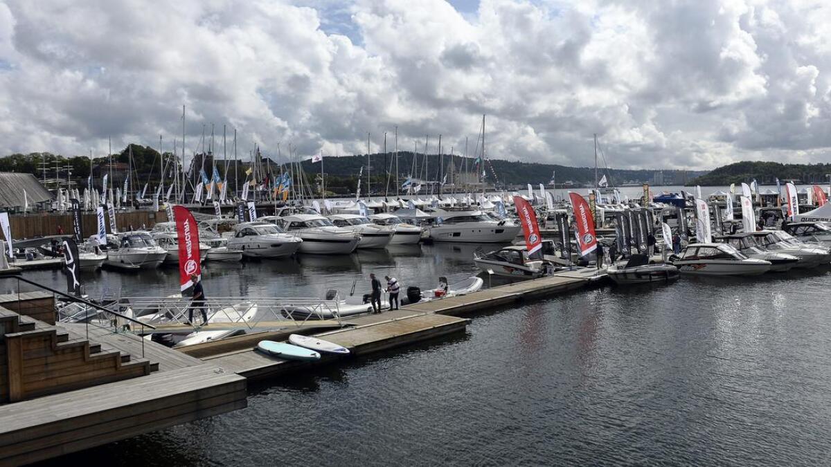 «Båter i sjøen» på Aker Brygge er en stor båtutstilling med mange produsenter representert.