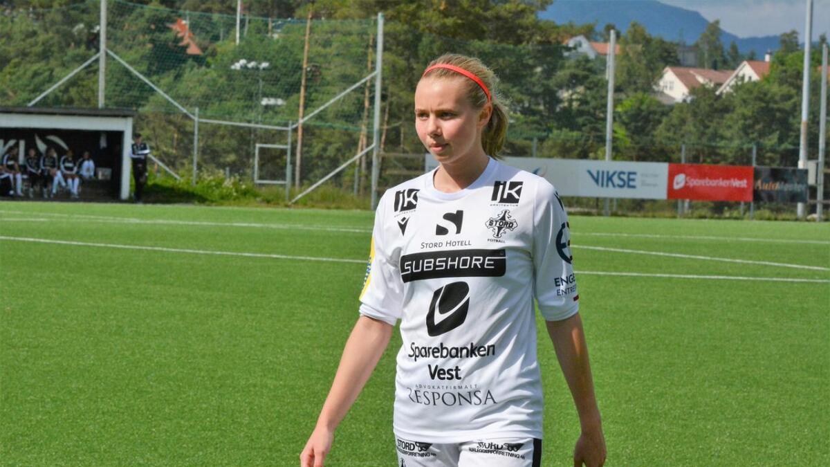 Sanne Bolette Dale Lekven noterte seg laurdag for scoring nummer 14 og 15 i årets seriespel.