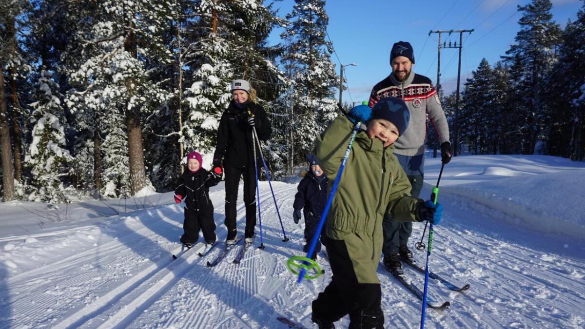 I Siljan testet mange skiføret søndag.
