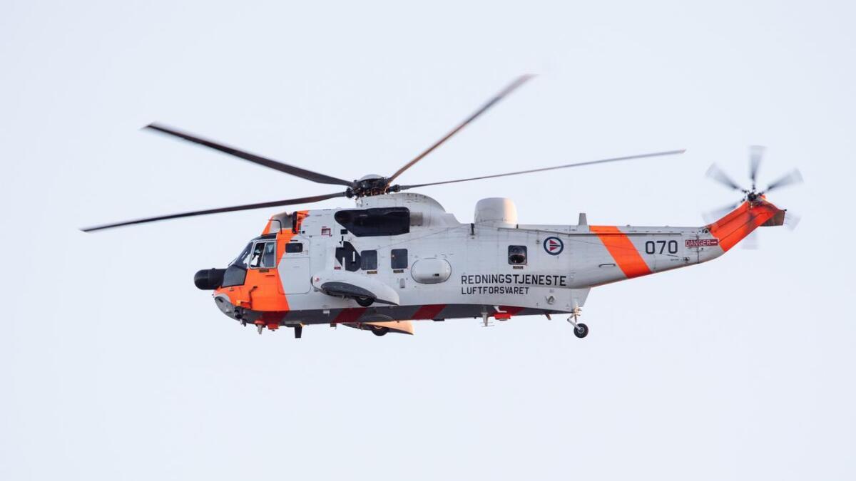 Helikopter og hundeekvipasje ble satt inn i søket etter en mann i 60-årene som ble meldt savnet i Åfjord i Trøndelag. Illustrasjonsfoto.