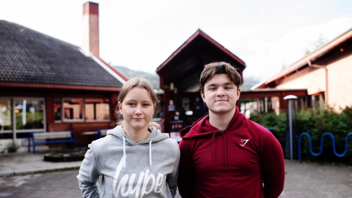 Nora Haugo frå Hol og Torjus Fossgård Snare frå Geilo tykte det var ein god debatt.