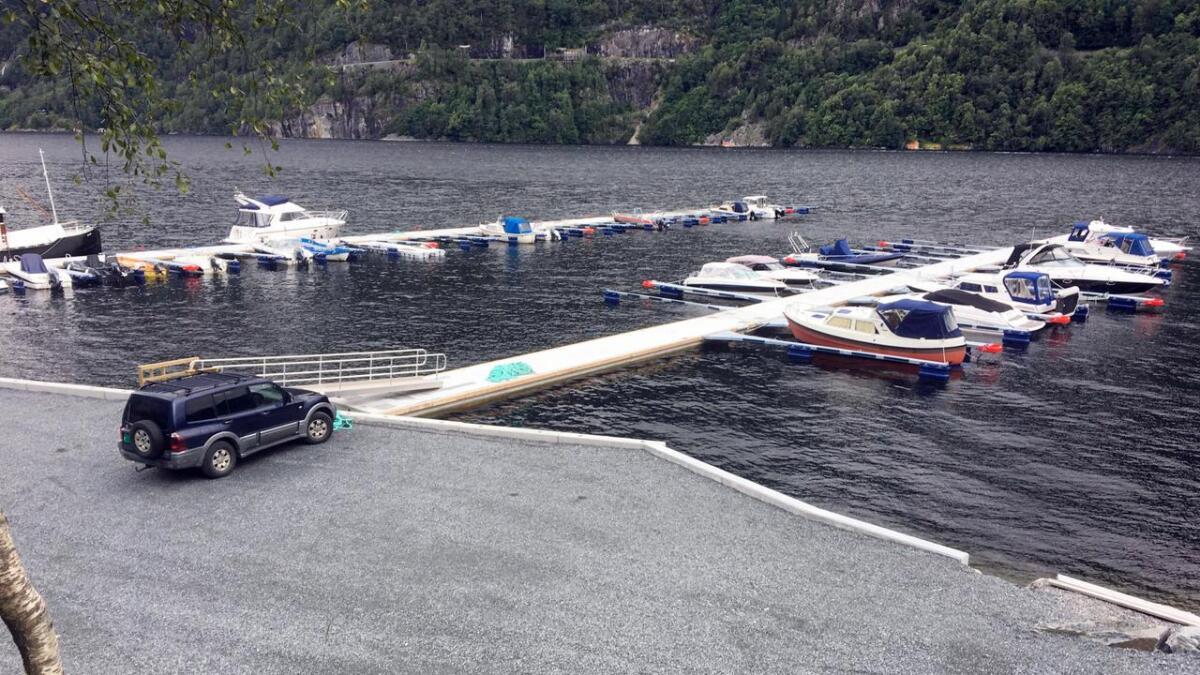 Småbåthamna i Granvin er for lengst teken i bruk.