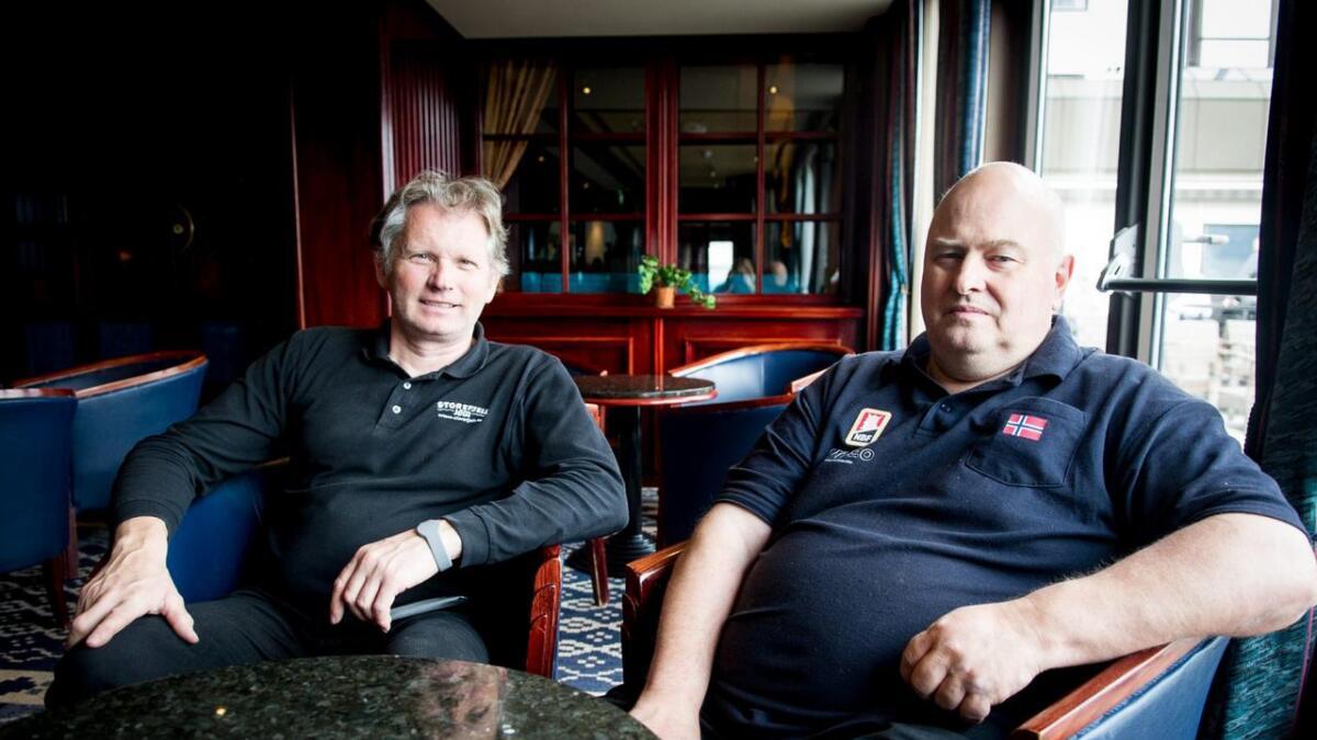 Lars Nibstad og Tormod Røren gler seg til NM i bridge på Storefjell i september.