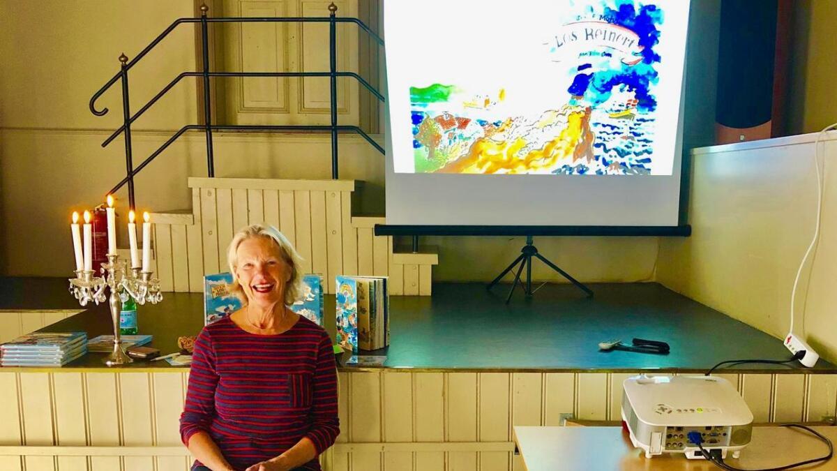 Forfatter Siri E. Mohr forteller barna om Los-Reinert i sommer.
